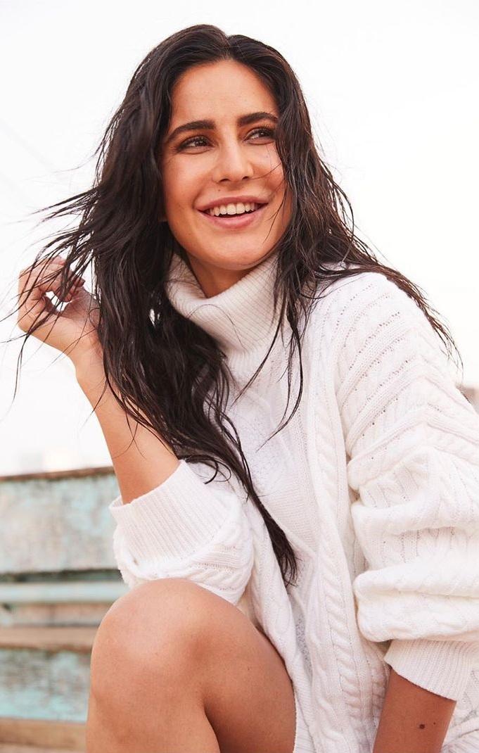 Katrina Kaif Looks Beautiful in White Sweater