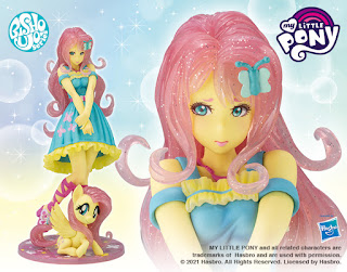 Limited Edition Fluttershy Bishoujo Statue Shown by Kotobukiya