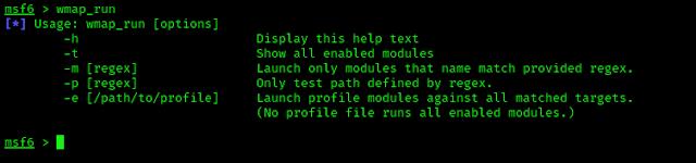 wmap_run help options