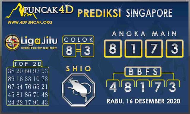 PREDIKSI TOGEL SINGAPORE PUNCAK4D 16 DESEMBER 2020