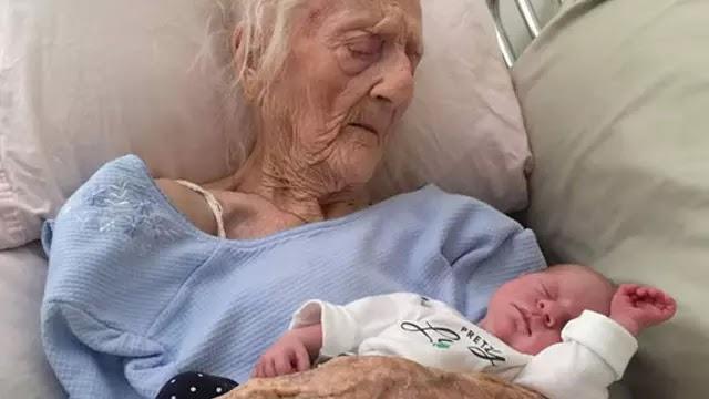Anatolia Vertadella melahirkan bayi seberat 4 kilogram di usianya yang kini menginjak 101 tahun