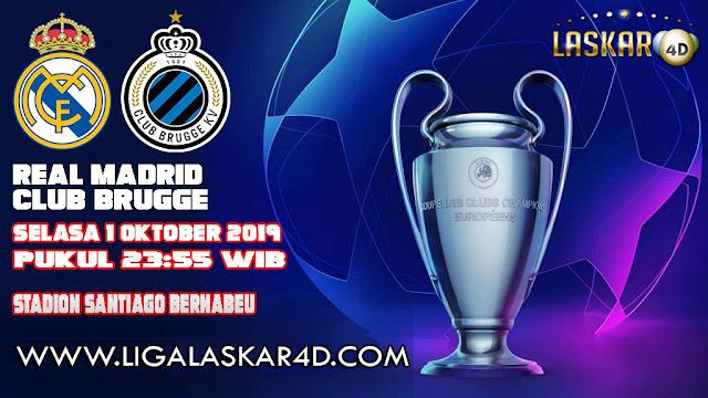 Prediksi Pertandingan Bola Real Madrid vs Club Brugge 01 Oktober 2019