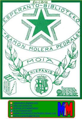 exlibris biblioteko Molera