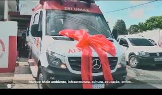 Prefeito de Guarabira entrega ambulância ao SAMU de Guarabira
