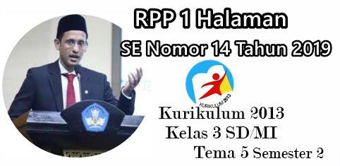 RPP 1 Halaman K13 Kelas 3 SD/MI Tema 5 (Cuaca)