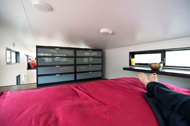 แบบห้องนอนใหญ่ในบ้านเคลื่อนที่