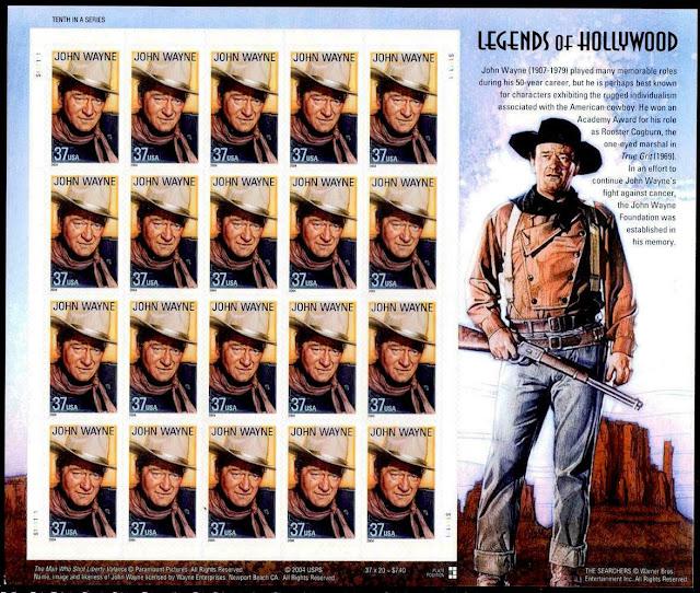 2004 John Wayne - Hollywood Legend - Sheet