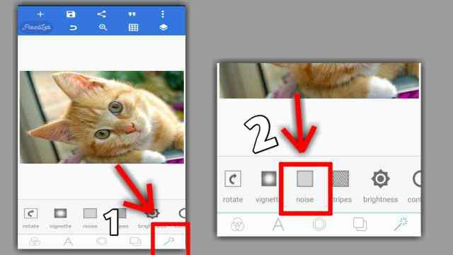cara membuat efek noise pada foto di hp