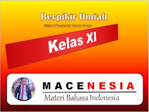 Berpikir ilmiah: Materi Pengantar Karya Ilmiah Kelas XI SMA Kasih Karunia Jakarta oleh Martin Karakabu guru kampung