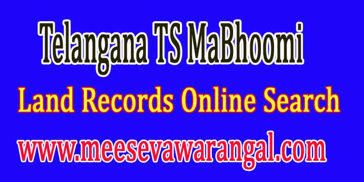 Telangana TS MaBhoomi Land Records Online Search