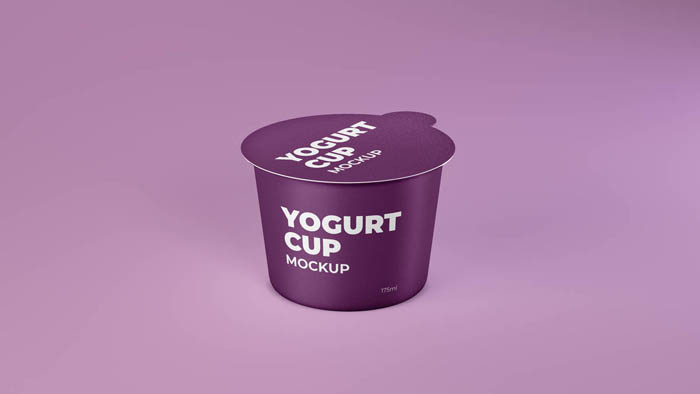 Dairy Product Cup Mockup