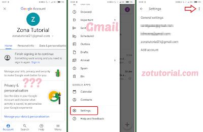 cara menghapus akun gmail google permanen dan total di android
