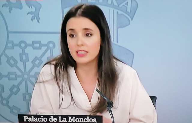 "Irene Montero "" El pin parental es un elemento claro de censura educativa y de machismo"""
