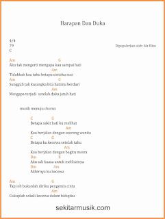 chord harapan dan duka lagu dangdut ida eliza