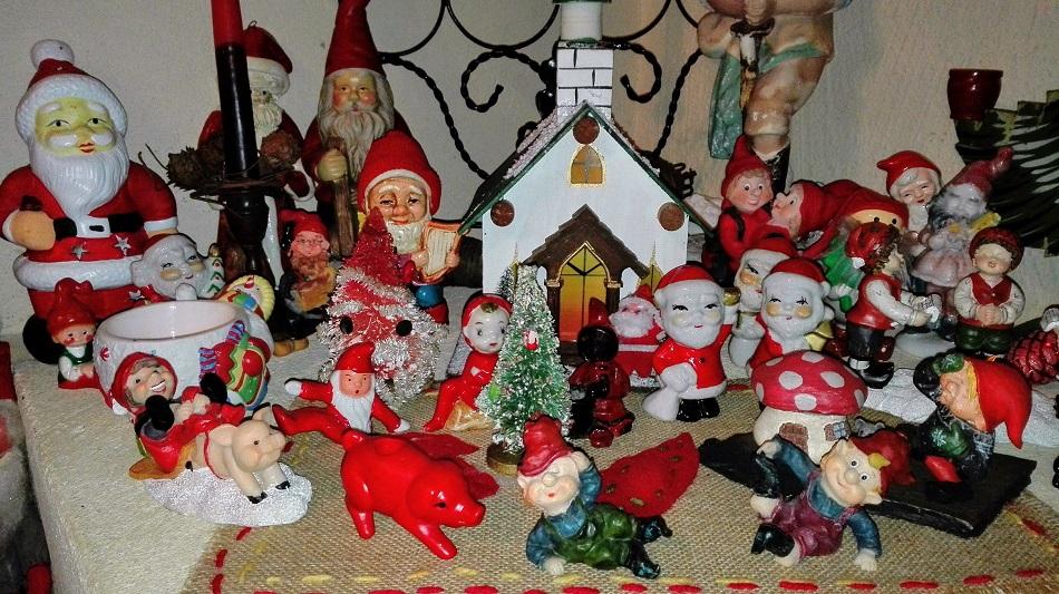 joulutontut joulumetsä joulukoristeet