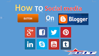how to add social media flow link on blogger template