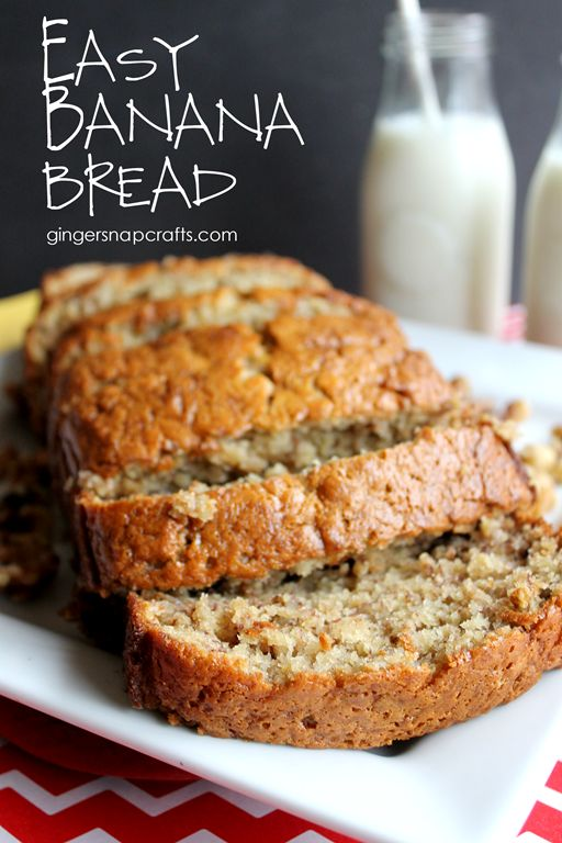 EASY BANANA BREAD {RECIPE} #recipes #baking #bakingrecipes #food #foodporn #healthy #yummy #instafood #foodie #delicious #dinner #breakfast #dessert #lunch #vegan #cake #eatclean #homemade #diet #healthyfood #cleaneating #foodstagram