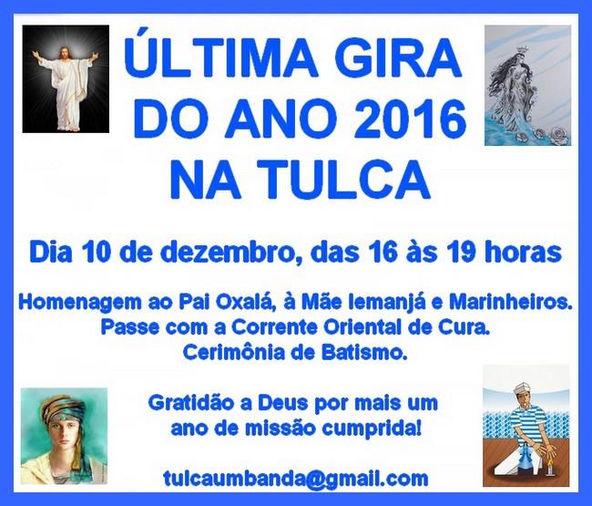 Última Gira 2016 na Tulca