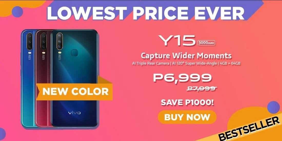 PRICE DROP ALERT: Vivo Y15 with Triple Camera and 5000mAh Battery Now Only Php6,999