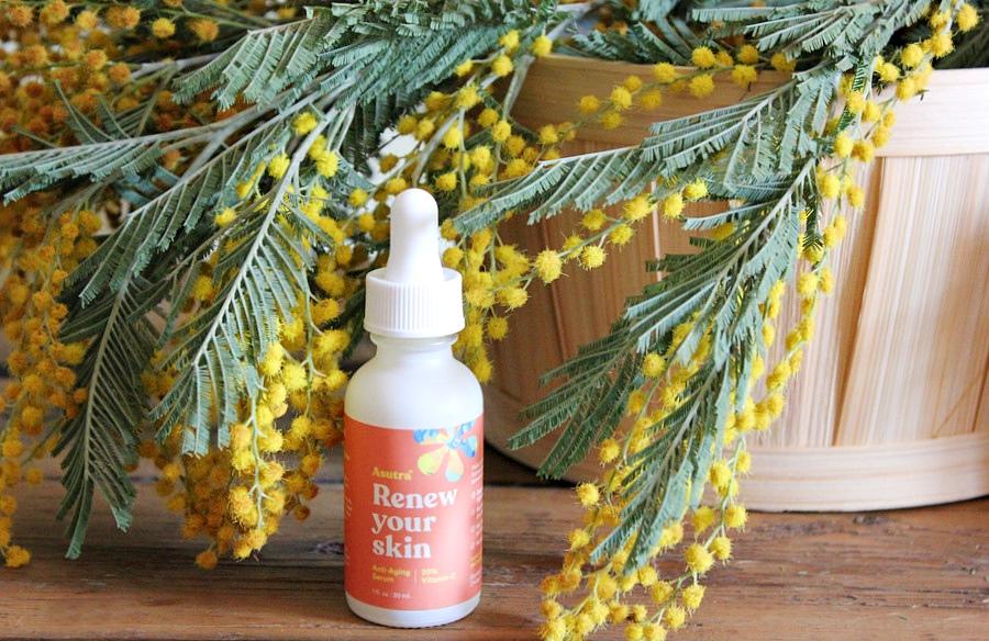 Сыворотка с 20% витамином С Asutra, Renew Your Skin, Anti-Aging Serum, 20% Vitamin C / обзор, отзывы
