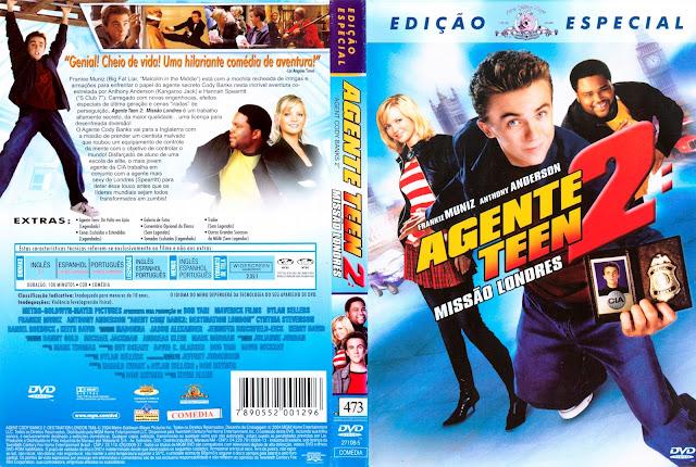 Capa DVD Agente Teen 2: Missão Londres