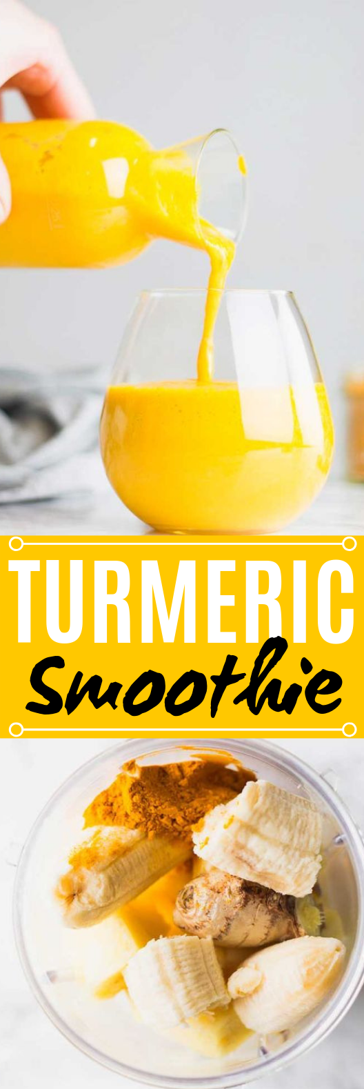 Turmeric Smoothie #drinks #healthy