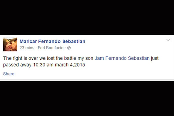 Jam Sebastian of Jamich is Dead March 4, 2015