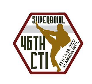 The patch from the CTI Superbowl, a martial arts tournament