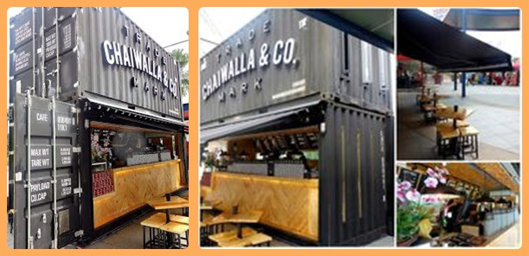 Gambar Minimalist Cafe 20 Feet Container Concept Don Land