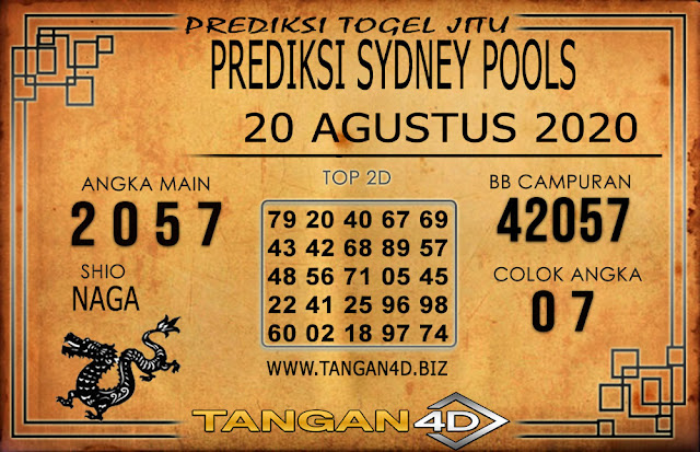 PREDIKSI TOGEL SYDNEY TANGAN4D 20 AGUSTUS 2020