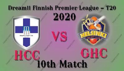 Who will win HCC vs GHC 10th T20I Match | GHC vs HCC Dream11 team prediction | FPL 2020