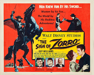 Movie poster for The Sign of Zorro (1958).