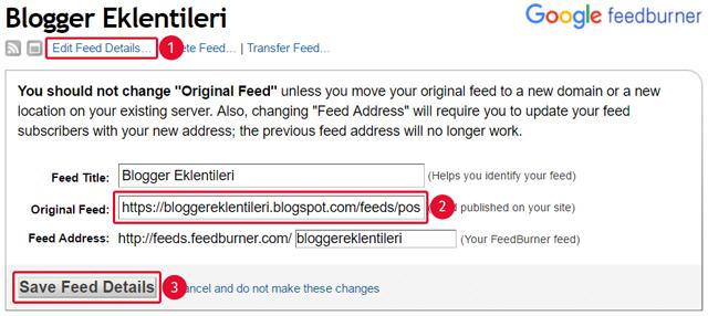 Blogger FeedBurner Besleme Boyutu Nasıl Küçültülür?