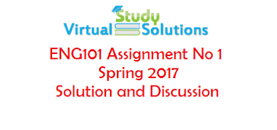 ENG101 Assignment No 1 Spring 2017 Solution and Discussion