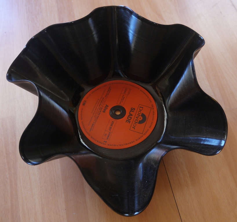 kreative stempelideen schallplatten recyceln. Black Bedroom Furniture Sets. Home Design Ideas