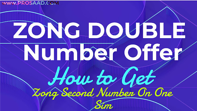 Zong Double Number Offer Code