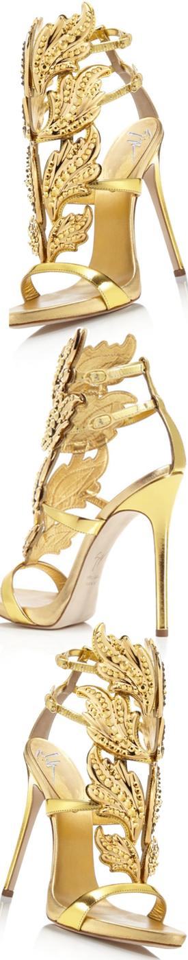 GIUSEPPE ZANOTTI DESIGN Gold Cruel 130 Sandals