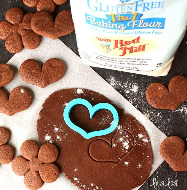 Soft and chewy gluten free chocolate sugar cookies