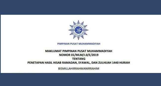 Penetapan 1 Ramadhan 1440 H