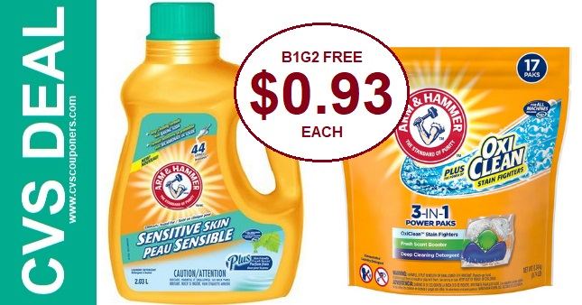 Arm & Hammer Detergent CVS Deal $0.93 2-16-2-22