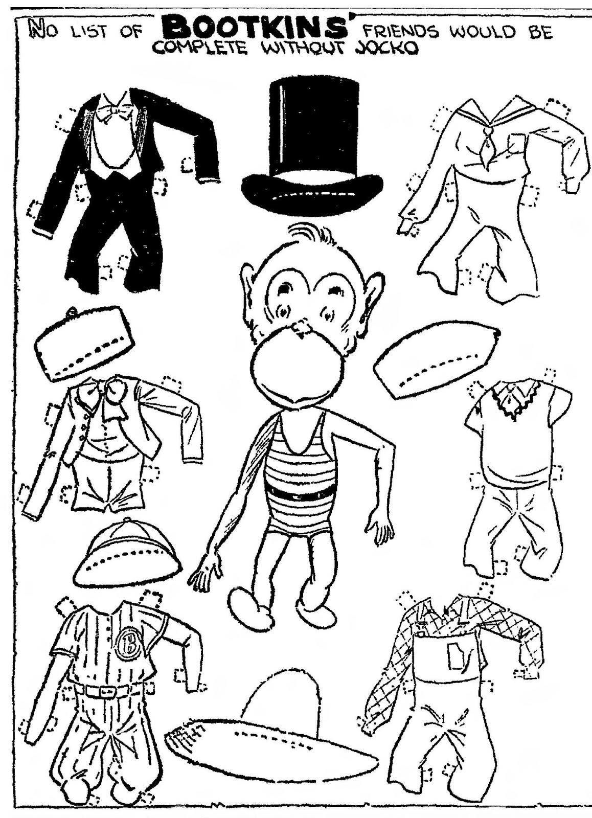 Mostly Paper Dolls Too!: Hey, Hey, We're the MONKEYS