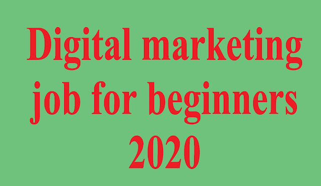 ultimate guide of digital marketing job for beginners 2020