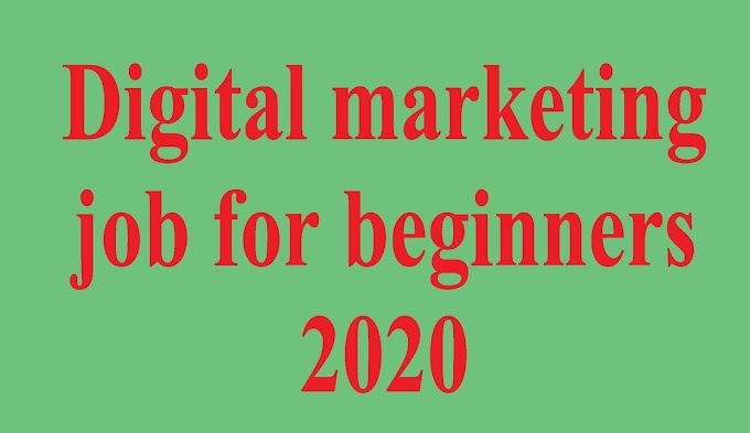 ultimate guide of digital marketing job for beginners 2020