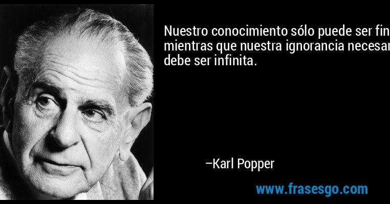 Ciencia contemporánea : EL FALSACIONISMO DE KARL POPPER