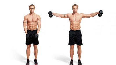 dumbbell lateral untuk melatih otot bahu