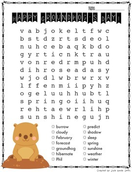 photo about Groundhog Day Word Search Printable titled Funds Welcoming Homeschooling: Cost-free Groundhog Working day Term Look