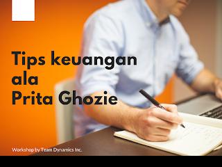 Tips keuangan Prita ghozie