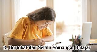 Bertekat dan Selalu Semangat Untuk Belajar merupakan salah satu hal yang bisa dilakukan sebagai kartini masa kini