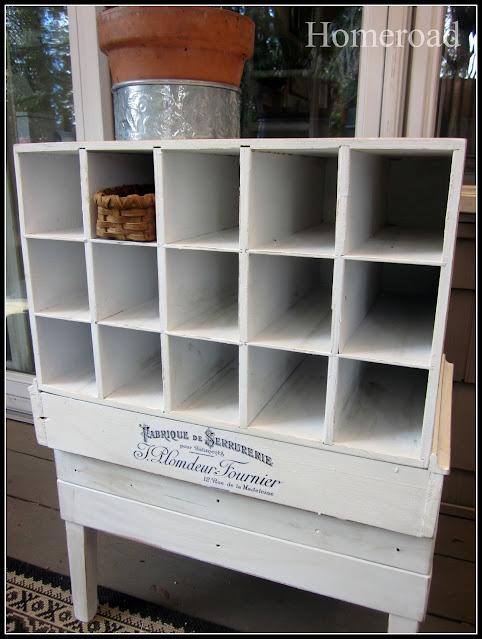 White cubbie shelf