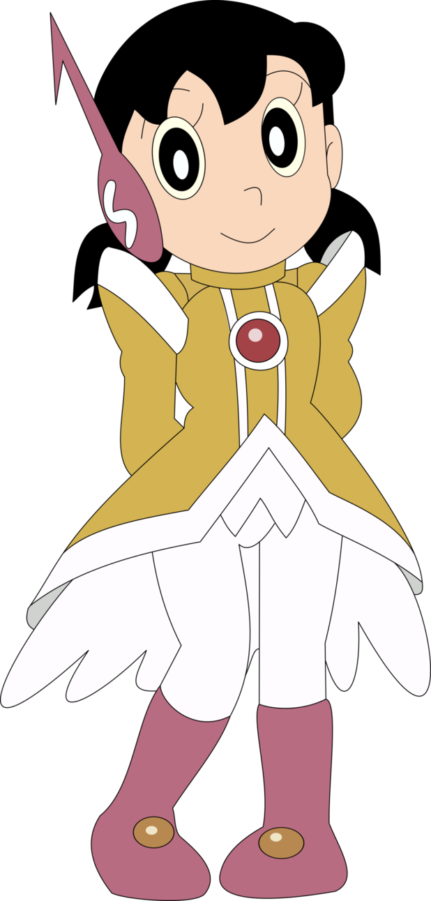 Shizuka dress like a Comic girls